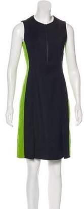 Akris Punto Half-Zip Knee-Length Dress
