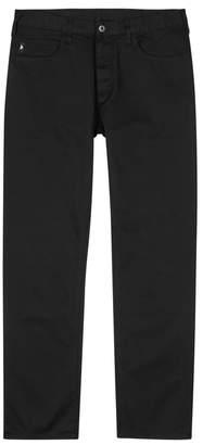 Emporio Armani Black Slim-leg Stretch Denim Jeans