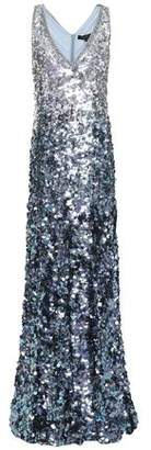 Jenny Packham Crystal And Sequin-embellished Degrade Tulle Gown