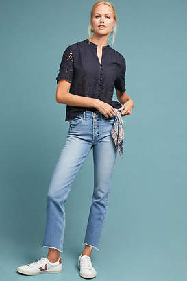 McGuire Gainsbourg High-Rise Cropped Flare Jeans