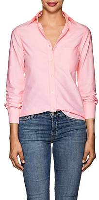 Barneys New York Women's Cotton Oxford Shirt - Pink