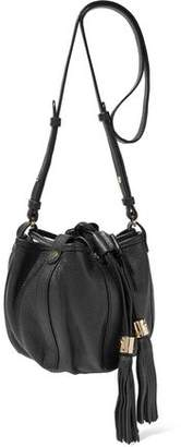 See by Chloe Vicki Tasseled Textured-Leather Bucket Bag