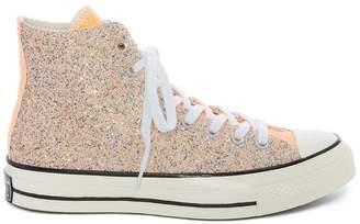 J.W.Anderson Converse X pastel glitter hi-top sneakers