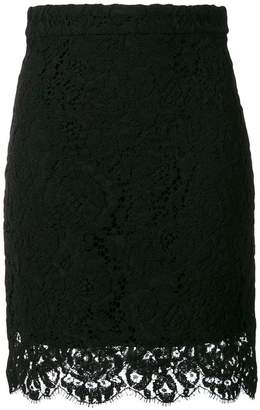 Proenza Schouler lace-hem fitted skirt