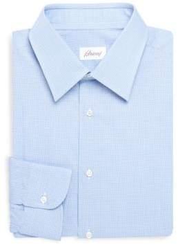 Brioni Regular Fit Checkered Dress Shirt