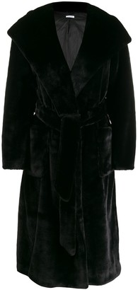 P.A.R.O.S.H. belted faux-fur coat