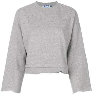 Sjyp raw edge sweatshirt