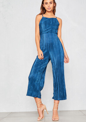 2beeecfd0dba Missy Empire Missyempire Nellie Blue Pleated Open Back Jumpsuit
