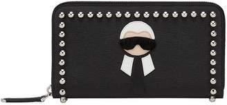 Fendi Karlito zip around wallet