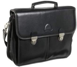 AmeriLeather World Class Black Leather Executive Briefcase (#2439-0)