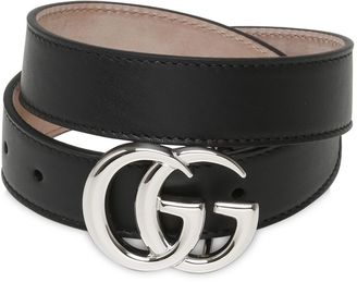 Running Gg Leather Belt $170 thestylecure.com