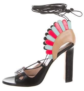 Paula Cademartori Ninfea Lace-Up Sandals