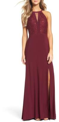 Morgan & Co. Lace & Jersey Gown