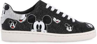 Glittered Nappa Leather Sneakers