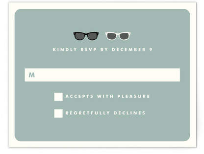Shades RSVP Cards