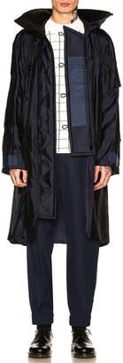 Sacai Silk Grid Coat