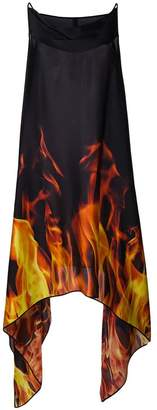 Gareth Pugh cowl neck flame dress