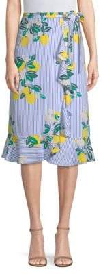 Draper James Lemon Print Wrap Skirt