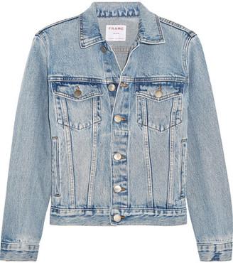 FRAME - Rigid Re-release Denim Jacket - Light denim $345 thestylecure.com