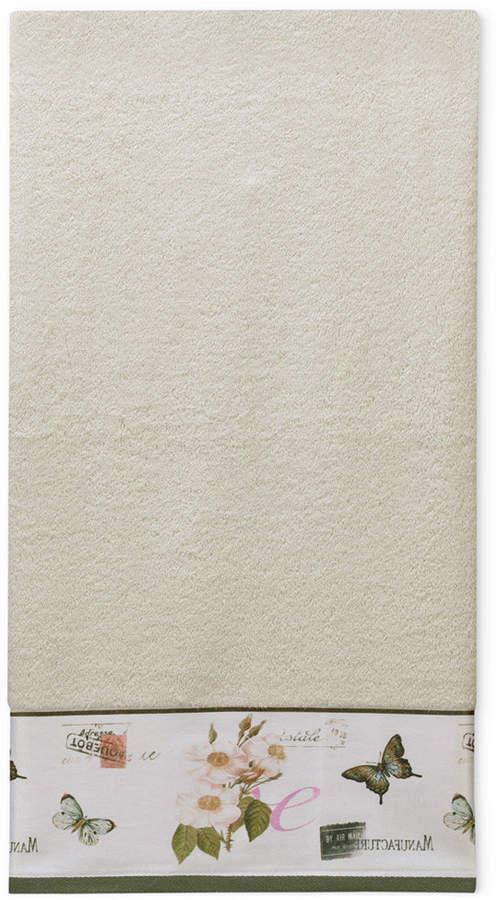 Botanical Diary Cotton Border-Print Bath Towel Bedding