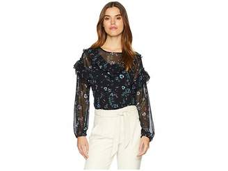 Kensie Winter Night Floral Blouse KSNK4772