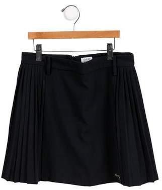 Armani Junior Girls' Pleated A-Line Skirt w/ Tags