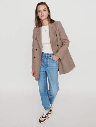 Maje Plaid short coat