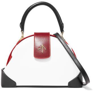 Atelier MANU Demi Mini Suede-trimmed Leather Shoulder Bag - White
