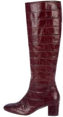 Altuzarra Crocodile Knee-High Boots