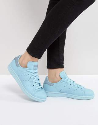 Adidas adidas Originals Icy Blue Stan Smith Sneakers $90 thestylecure.com