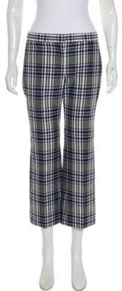 Alexander McQueen Celtic Check Mid-Rise Pants w/ Tags Grey Celtic Check Mid-Rise Pants w/ Tags