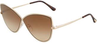 Tom Ford Elise Gradient Cross-Bridge Sunglasses