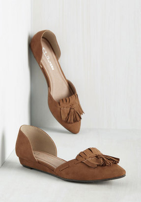 CL by Chinese Laundry If Looks Could Kiltie Flat in Tawny $49.99 thestylecure.com