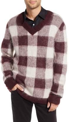 Hope Low Mohair Blend V-Neck Sweater