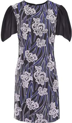 Reiss ESTELLE FLORAL EMBROIDERED DRESS Multi