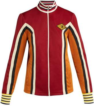 Gucci Striped Technical Jersey Jacket - Womens - Brown
