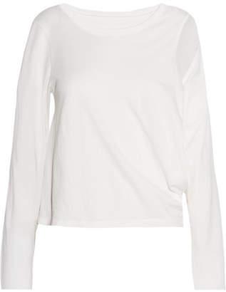 MM6 MAISON MARGIELA Cutout Cotton-jersey Top - Off-white