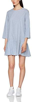 PepaLoves Women's Ilse Blue Casual Dress,(Manufacturer's Size:Small)