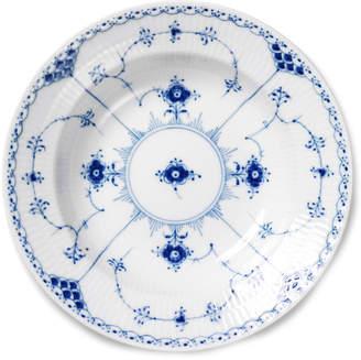 Royal Copenhagen Blue Fluted Half Lace Rim Soup Bowl
