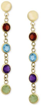 Effy Multi-Gemstone Drop Earrings (2-1/5 ct. t.w.) in 14k Gold