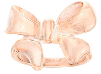 FINE JEWELRY Rose IP Stainless Steel Bow Ring