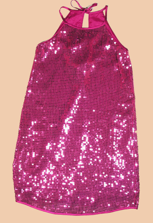 Single Girls Magenta Sequin Dress