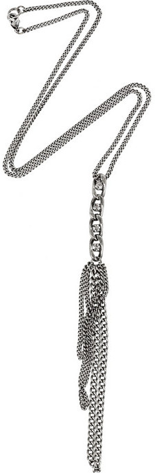NC bis Silver-plated tassel necklace