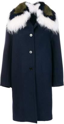 Ermanno Scervino fur trim coat
