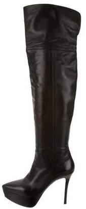 Miu Miu Over-The-Knee Platform Boots