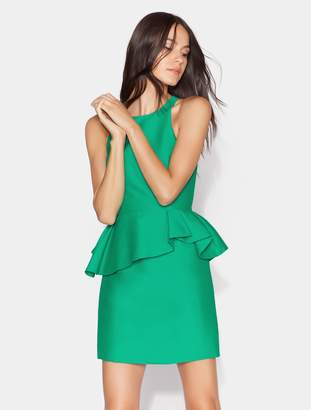 Halston Fitted Peplum Dress