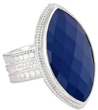 Anna Beck Sterling Silver Marquise-Cut Lapis Ring