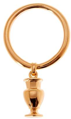 Baccarat Love Gold Vermeil Charm Ring - Size 5.5