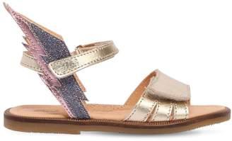 Ocra Metallic Leather Sandals