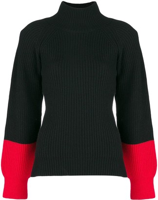 Eudon Choi colourblock turtleneck sweater